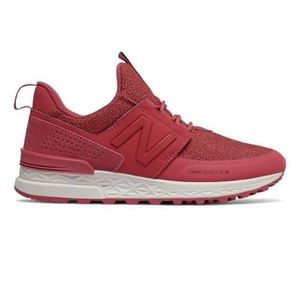 Womens new balance 574 red sneaker